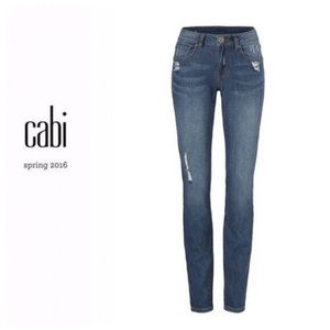 CAbi deconstructed skinny jeans